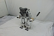 Vintage USA Navy Vessel Binoculars and Stand Plus Custom Stainless Steel Platform AFTER Chrome-Like Metal Polishing and Buffing Services - Aluminum Polishing & Stainless Steel Polishing - Binocular Polishing