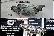Vintage Aluminum Body Navy Vessel Binoculars BEFORE AND AFTER Chrome-Like Metal Polishing and Buffing Services - Aluminum Polishing - Binocular Polishing