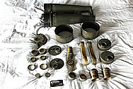Japanese 1930's WWII 20x120 Toko Aluminum and Brass Binoculars BEFORE Chrome-Like Metal Polishing and Buffing Services