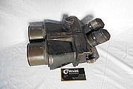 1930's WWII Aluminum Binoculars BEFORE Chrome-Like Metal Polishing and Buffing Services
