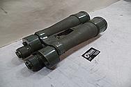 Aluminum and Brass Vintage 1940's WWII Japanese Warship Binoculars BEFORE Chrome-Like Metal Polishing - Aluminum and Brass Polishing