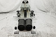 Vintage USA Navy Vessel Aluminum Binoculars and Cast Iron Stand BEFORE Chrome-Like Metal Polishing and Buffing Services / Restoration Services - Binocular Polishing - Aluminum Polishing Steel Polishing