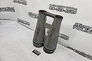 Vintage Japanese 120mm Big Eye Binoculars BEFORE Chrome-Like Metal Polishing and Buffing Services / Restoration Services - Binocular Polishing - Aluminum Polishing - Steel Polishing