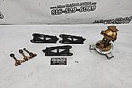 Vintage Brass, Aluminum And Steel Binocular Stand BEFORE Chrome-Like Metal Polishing - Aluminum Polishing - Steel Polishing - Brass Polishing - Vintage Polishing