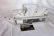 Ford Mustang Aluminum Blower / Supercharger Brackets and Spacers AFTER Chrome-Like Metal Polishing and Buffing Services