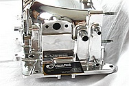 2003 Ford Mustang Cobra Aluminum Blower / Supercharger Housing, Plenum, Front Snout, Bracket and Throttle Body AFTER Chrome-Like Metal Polishing and Buffing Services