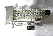 Aluminum Tractor Supercharger AFTER Chrome-Like Metal Polishing and Buffing Services / Restoration Services