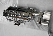 BDS Aluminum Blower / Supercharger AFTER Chrome-Like Metal Polishing and Buffing Services / Restoration Services