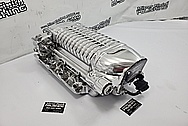 Aluminum Whipple Supercharger AFTER Chrome-Like Metal Polishing and Buffing Services - Aluminum Polishing Services