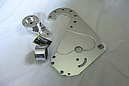 Ford Mustang V8 Aluminum F1A Blower / Supercharger Bracket, Pulley and Bracket AFTER Chrome-Like Metal Polishing and Buffing Services