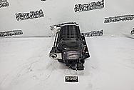 Aluminum Whipple Supercharger BEFORE Chrome-Like Metal Polishing and Buffing Services - Aluminum Polishing Services