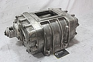 Aluminum Tractor Blower / Supercharger BEFORE Chrome-Like Metal Polishing and Buffing Services / Restoration Services