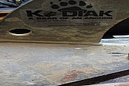 Kodiac a Bear of an Anchor Steel Boat Anchor Project BEFORE Chrome-Like Metal Polishing and Buffing Services / Restoration Services - Steel Polishing - Boat Polishing - Anchor Polishing