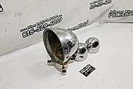 Brass & Aluminum Boat Project BEFORE Chrome-Like Metal Polishing and Buffing Services - Aluminum Polishing - Boat Polishing