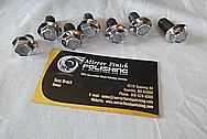 AC Compressor Steel Bolt Heads AFTER Chrome-Like Metal Polishing and Buffing Services / Restoration Services