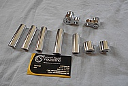 Aluminum Hardware Pieces AFTER Chrome-Like Metal Polishing - Aluminum Polishing Services