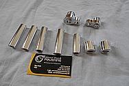 Aluminum Hardware Pieces AFTER Chrome-Like Metal Polishing - Aluminum Polishing Services