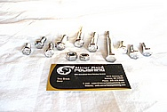 Stainless Steel Bolts / Hardware AFTER Chrome-Like Metal Polishing and Buffing Services