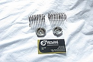 Miscellaneous Steel Spring and Retainer Hardware Pieces AFTER Chrome-Like Metal Polishing and Buffing Services
