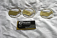 Mercury Copper Emblems BEFORE Chrome-Like Metal Polishing and Buffing Services / Restoration Services
