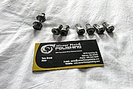 Steel Bolt Heads BEFORE Chrome-Like Metal Polishing and Buffing Services / Restoration Services