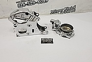 Aluminum Accessory Bracket AFTER Chrome-Like Metal Polishing and Buffing Services - Steel Polishing Services