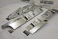 Aluminum Underhood Truck Shielding Brackets AFTER Chrome-Like Metal Polishing and Buffing Services / Restoration Services - Bracket Polishing - Aluminum Polishing