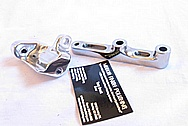 Toyota Supra Tensioner Bracket and Miscellaneous Bracket AFTER Chrome-Like Metal Polishing and Buffing Services