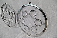 Stainless Steel Decorative Bracket Piece AFTER Chrome-Like Metal Polishing and Buffing Services / Restoration Services