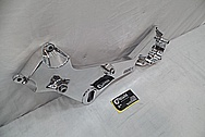 Aluminum Magnum Powers Bracket AFTER Chrome-Like Metal Polishing and Buffing Services / Restoration Service