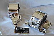 Aluminum Engine Mount Brackets AFTER Chrome-Like Metal Polishing and Buffing Services / Restoration Service