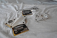 Aluminum Engine Brackets AFTER Chrome-Like Metal Polishing and Buffing Services - Aluminum Polishing Services
