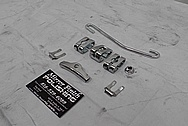 Steel Transmission Brackets AFTER Chrome-Like Metal Polishing - Steel Polishing