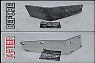 BEFORE AND AFTER Chrome-Like Metal Polishing - Stainless Steel Polishing Services - Stainless Steel Bracket Polishing