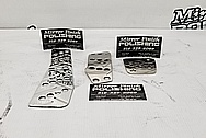 Aluminum/ Titanium Pedals AFTER Chrome-Like Metal Polishing and Buffing Services - Aluminum Polishing & Titanium Polishing