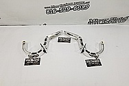 Aluminum Hood Mount Brackets AFTER Chrome-Like Metal Polishing and Buffing Services - Aluminum Polishing