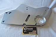 Aluminum Coated Bracket BEFORE Chrome-Like Metal Polishing and Buffing Services / Restoration Services