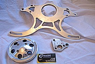 1967 Chevy Camaro Aluminum Bracket Part BEFORE Chrome-Like Metal Polishing and Buffing Services