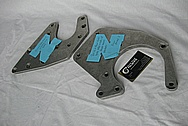 Ford Mustang Aluminum Supercharger Brackets BEFORE Chrome-Like Metal Polishing and Buffing Services