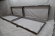 Stainless Steel Window Sill Brackets / Frames BEFORE Chrome-Like Metal Polishing and Buffing Services / Restoration Services