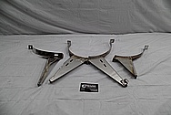 Stainless Steel Tank Holder Brackets BEFORE Chrome-Like Metal Polishing and Buffing Services / Restoration Services