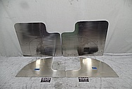 Stainless Steel Custom Truck Mudflap Brackets BEFORE Chrome-Like Metal Polishing and Buffing Services - Stainless Steel Polishing