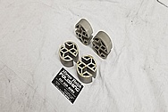 Stainless Steel Bracket Pieces BEFORE Chrome-Like Metal Polishing - Stainless Steel Polishing
