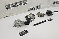 Toyota Supra Aluminum Bracket BEFORE Chrome-Like Metal Polishing and Buffing Services - Aluminum Polishing Services
