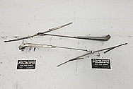 1966 Pontiac GTO Stainless Steel Windshield Wipers BEFORE Chrome-Like Metal Polishing and Buffing Services / Restoration Services - Windshield Wiper Polishing - Stainless Steel Polishing