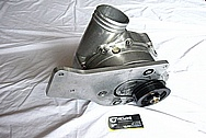 Ford Mustang Aluminum Supercharger / Blower Bracket BEFORE Chrome-Like Metal Polishing and Buffing Services