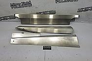 Aluminum Underhood Truck Shielding Brackets BEFORE Chrome-Like Metal Polishing and Buffing Services / Restoration Services - Bracket Polishing - Aluminum Polishing
