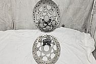 Steel Motorcycle Brake Rotors AFTER Chrome-Like Metal Polishing - Steel Polishing