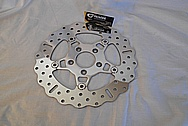 Motorcycle Steel Brake Rotor AFTER Chrome-Like Metal Polishing - Steel Polishing