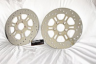 Stainless Steel Motorcycle Brake Rotors AFTER Chrome-Like Metal Polishing and Buffing Services
